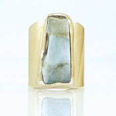 Raw Aquamarine Bar Ring for Women Gold Ring March | Etsy Aquamarin Ring, Aquamarine Jewelry, Aquamarine Stone, Birthstone Jewelry, Birthstone March, Raw Gemstone Ring, Druzy Ring, Wide Band Rings, Messing