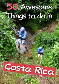50 awesome things to do in Costa Rica! A mix of cultural, historical, local, outdoor, family, culinary and adventure activities
