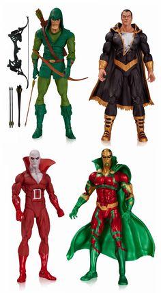 DC Comics Icons Wave 1 Action Figures - Green Arrow, Black Adam, Deadman & Mister Miracle