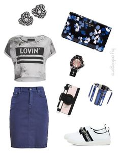"""""""Evening flower"""" by aakiegera on Polyvore featuring мода, Barbour, Kate Spade, Religion Clothing, KYBOE!, Mother of Pearl, Erica Lyons и Kenneth Jay Lane"""