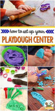 How to set up a playdough Center in your preschool, pre-k, Head Start or kindergarten classroom. Playdough center set up tips for pre-k, preschool, or kindergarten. Your kids will have fun practicing fine motor skills while having fun in this center! Art Center Preschool, Preschool Classroom Setup, Toddler Classroom, Classroom Ideas, Classroom Clipart, Classroom Environment, Preschool Art, Pre K Pages, Play Based Learning