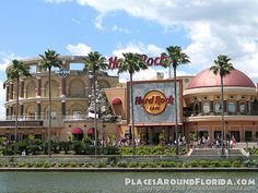 Universal City Walk/Orlando, Florida--Hard Rock Hotel and Cafe. Most massive and beautiful Hard Rock I've ever been in!!