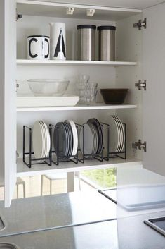 15 Smart Storage Rack Design Ideas For Your Small Home - Kitchen Racks Dish Organization, Small Kitchen Storage, Kitchen Organization Pantry, Small Apartment Organization, Small Apartment Decorating, Organizing Small Kitchens, Bathroom Product Organization, Storage For Small Spaces, Small House Storage Ideas