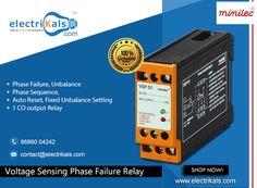 #PhaseFailureRelays - Buy #Minilec #VSPD1DINRailMounted #VoltageSensingPhaseFailureRelays Online @ electrikals.com #OnllineShopping