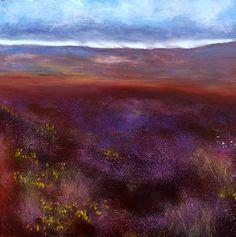 Bog Heather II by John O' Grady,    Irish landscape, Ireland, art, painting
