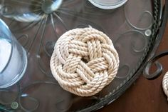 diy coasters trivets using turk s head knot, home decor, how to