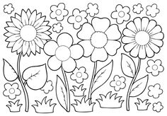 May Flowers Coloring Pages Awesome Growing Things Kids Environment Kids Health National Coloring Pages Nature, Abstract Coloring Pages, Summer Coloring Pages, Easy Coloring Pages, Pokemon Coloring Pages, Mandala Coloring Pages, Coloring Pages For Kids, Coloring Books, Kids Coloring