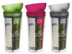 This Travel Tea Mug Touts a Clever Design For Brewing Loose Leaf Tea #eco trendhunter.com