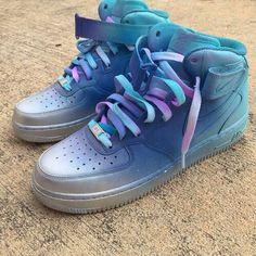 Teal Ombré Nike Air Force 1s