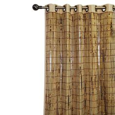 Bamboo Grommet Window Panel As shower curtain