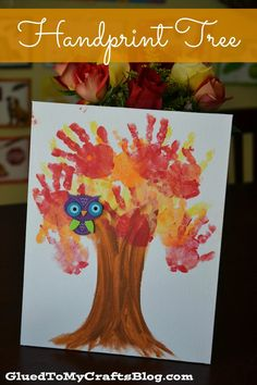 15 Fantastic Fall Crafts for Kids! 15 Fantastic Fall Crafts for Kids {Handprint Tree From Glued to My Crafts} This. Kids Crafts, Daycare Crafts, Fall Crafts For Kids, Glue Crafts, Thanksgiving Crafts, Toddler Crafts, Crafts To Do, Holiday Crafts, Art For Kids