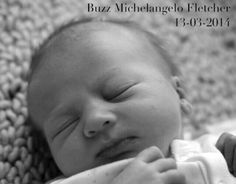 Welcome to the McFamily, Buzz Michelangelo Fletcher!  Twitter / poyntersource