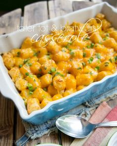 Tater Tot and Bratwurst Casserole - I Wash You Dry