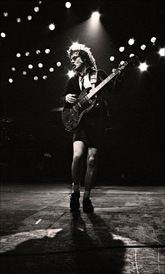Angus Young - not really a fan of AC/DC but talent is talent and he's got it. lc