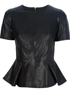 ALEXANDER MCQUEEN leather peplum top