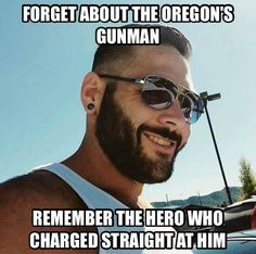 Chris Mintz, 30 year old Army veteran who served for 10 years, is currently in the hospital after suffering 5 gunshot wounds during the Oregon community college shooting on Thursday that left 10 dead. No vital organs were hit but both legs are broken and he'll have to learn to walk again. Thursday was also his son's 6th birthday.  Chris tried blocking one of the doors at the school to prevent the... See More — with Anet De Jager Juncker.