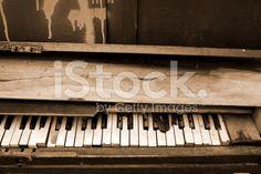 Sepia Piano royalty-free stock photo