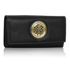 Peňaženka so zlatou brošňou Onna, čierna 14931
