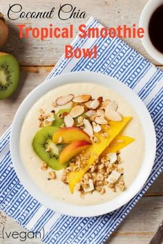 Coconut Chia Tropical Smoothie Bowl by Nature's Path