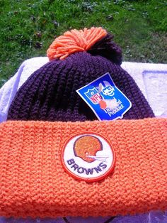 Cleveland Browns Official Beanie Hat Head Wear NOS  #Orlon #ClevelandBrowns