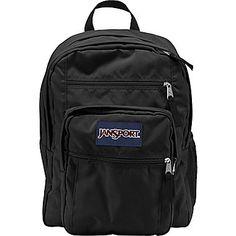 296212c78 Jansport Big Student, Backpack, Black Big Backpacks, Jansport Backpack,  College Life,