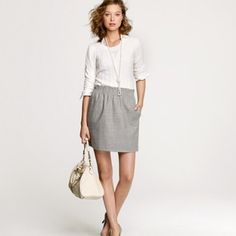J Crew Grey Citi Mini Skirt J Crew City Grey Mini Skirt. Size 2. Great condition. No trades please. J. Crew Skirts Mini