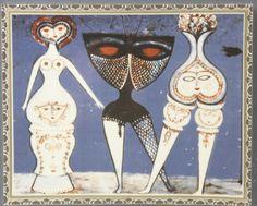 Porslinstavla, Max Walter Svanberg (1912-1994), signerad i trycket, 27x32