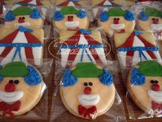Cookies Decorados - Lembrancinha- Aniversário - Tema Circo