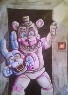 well hello again. Fnaf Drawings, Cool Drawings, Five Nights At Freddy's, Fnaf Wallpapers, Fnaf Sl, Freddy 's, Fnaf Characters, Fnaf Sister Location, Anime Fnaf