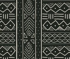 African Fabric - Mudcloth In Bone On Ash By Domesticate - African Mud Cloth Gray Cotton & Upholstery Fabric By The Yard With Spoonflower Ethnic Patterns, Textures Patterns, Fabric Patterns, Print Patterns, African Patterns, African Textiles, African Fabric, African Prints, Fabric Design