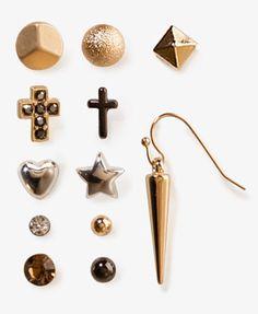 Dome & Spike Earring Set | FOREVER 21 - 1020950825