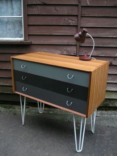 MID CENTURY VINTAGE RETRO G PLAN CHEST DRAWERS UPCYCLED PAINTED HAIRPIN TEAK in Home, Furniture & DIY, Furniture, Chests of Drawers | eBay #retrohomedecor