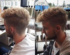 36 Best Haircuts for Men: Top Trends from Milan, USA & UK At the recent Milano ModaUomo show, they declared they were styling men to look boyish and boys to look 'manly'! The hair trends were dynamic a. Hipster Hairstyles Men, Curly Mohawk Hairstyles, Short Spiky Hairstyles, Haircuts For Curly Hair, Cool Haircuts, Cool Hairstyles, Men's Haircuts, Hairstyle Ideas, Short Sides Haircut