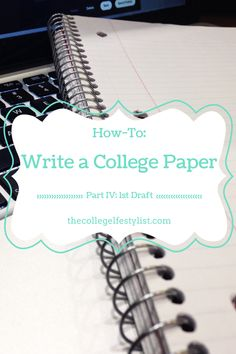 Follow along and learn how to write a perfect college paper for every subject!