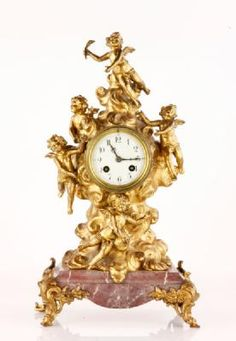 8341 - 19TH C. FRENCH MARBLE CLOCK