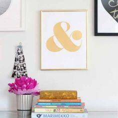 Gold Ampersand Print//Brickyard Buffalo