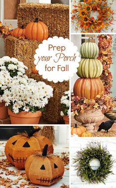 How do you prep your porch for Fall? #fall #falldecor #porch #curbappeal [Promotional Pin] (sweepstakes)