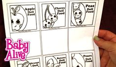 Fun with Baby Alive: Baby Alive Doll Food Packet Template Printout!!