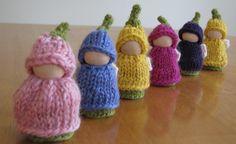 Knitted flower fairies!