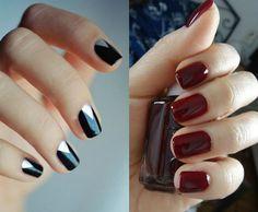 Modele unghii naturale facute acasa Nailed It, Manicure, Nails, Nail Colors, Colours, Candy Cane, Nail Polish, Shapes, Beauty