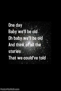 One day baby we'll be old - Asaf Avidan // Reckoning Song