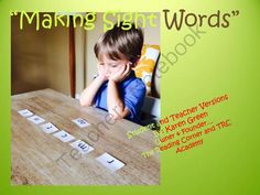 Making Sight Words from The Reading Corner on TeachersNotebook.com -  (35 pages)  - This activity includes Teacher Scripts, small version of the letters for each activity  and large letter cards for whole group instruction. The Making Words Activities in this package include both CVC