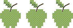 cuisine - kitchen - pomme - point de croix - cross stitch - Blog : http://broderiemimie44.canalblog.com/