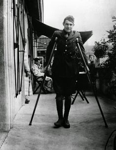 Ernest Hemingway recuperating from his wounds in Milan, 1918