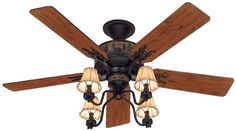 Adirondack Fan for Lowe's Design by Christophe Badarello...  So exciting to be almost done with the living room ceiling and cant wait to put three of these bad boys up!! <3 AJ  Our Rustic/Lodge/Western/County style home coming to life ... dreams do come true!