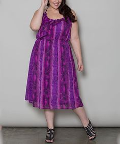 Look at this Sealed With a Kiss Designs Purple Natalia Dress - Plus on #zulily today!