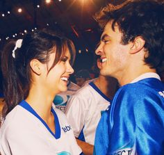 Ian Somerhalder and Nina Dobrev at DIRECTV'S Seventh Annual Celebrity Bowl 2013.