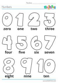 numeros en ingles para niños