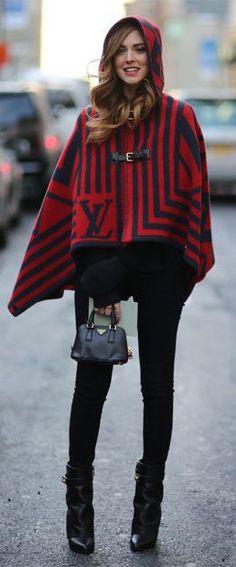 #street #fashion Louis Vuitton cape NYFW @wachabuy