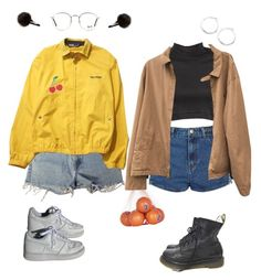 """""""Lookin like you came from the 70's on your own"""" by soapish ❤ liked on Polyvore featuring Levi's, Ray-Ban, Topshop, Dr. Martens, River Island, NIKE, Edith A. Miller, Polo Ralph Lauren, Georgia Perry and Lauren Ralph Lauren"""